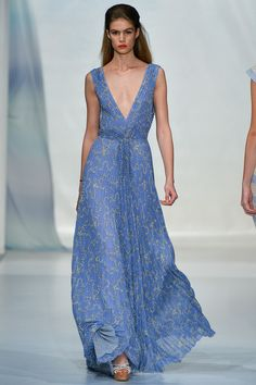 Luisa Beccaria Spring 2014 Ready-to-Wear Fashion Show Collection Style Couture, Couture Fashion, Runway Fashion, Milan Fashion, Blue Fashion, High Fashion, Fashion Show, Fashion Design, Luisa Beccaria