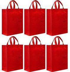 Reusable Gift Bags, Medium- 6 Bag Set
