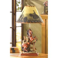 Table Lamp Horse Decor Reading Lamp Shade Home Ornament Living Room Bedroom Tiffany Mainstays Lighting Contemporary Decorative -- Find out more about the great product at the image link. (Note:Amazon affiliate link)