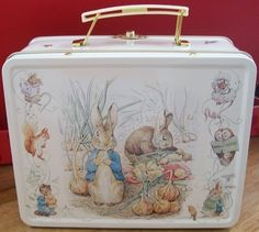 Photo of Annie Vintage 1981 Lunch Box for fans of Lunch Boxes 2554679 Beatrix Potter, Lunch Box Image, Mr Mcgregor, Susan Wheeler, Peter Rabbit And Friends, Vintage Lunch Boxes, Holly Hobbie, Illustration, Childhood