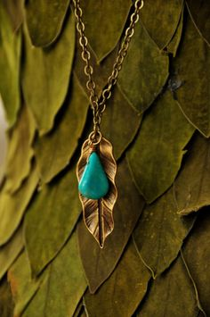 Items similar to Leaf Necklace Ready to ship LAST ONE on Etsy