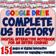 This AMAZING digital resource features a full year of American History Digital Notebook pages using Google Drive! There's over 150 pages in all! Perfect for integrating technology into your US History lesson plans throughout the year!