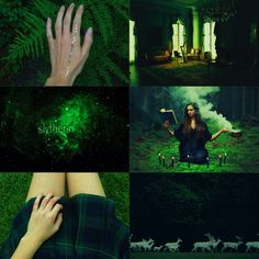 """Harry Potter Aesthetic: Slytherin House + Dark Green   """"Show me your wand and I'll show you a fight."""""""