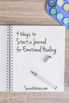 It may sound too good to be true, just journal for emotional healing. Can simply putting pen to paper really help you make sense of your story, help you recover from abuse and create healthy emotional balance that allows you not just to survive, but to th Smash Book, Journal Prompts, Writing Prompts, Art Journals, Bujo, Lettering, Coping Skills, Self Development, Personal Development