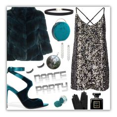 """""""Dance party"""" by angie-simonon ❤ liked on Polyvore featuring Tom Ford, Yves Salomon, Humble Chic, Chanel, Mulberry, Leather, Sequins, velvet, fur and danceparty"""