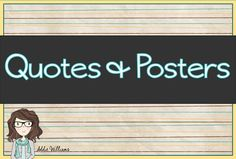 Great ideas for classroom decor or writing prompts.