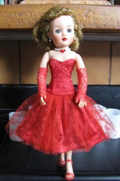 RED-SATIN-DRESS-FOR-18-MISS-REVLON-FASHION-DOLL