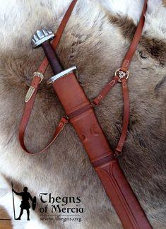 """Grásiða"" - 9th - 10th Century 'Viking' Sword and Sheath - Thegns of Mercia"