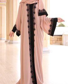 Hijab#fashion#abay Turkish Fashion, Islamic Fashion, Muslim Fashion, Modest Fashion, Fashion Dresses, Burqa Designs, Abaya Designs, Muslim Dress, Hijab Dress