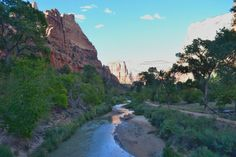 Zion National Park- walkway along the river