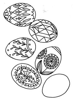 Macaro (c) Poland A Book to Color, Artic Circle Press Egg Coloring Page, Coloring Easter Eggs, Coloring Pages For Kids, Coloring Sheets, Coloring Stuff, Kids Coloring, Polish Easter Traditions, Thinking Day, To Color