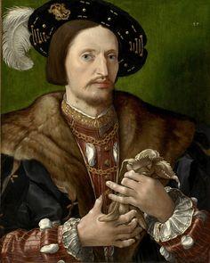 Jan Gossaert ,  also known as Jan Mabuse (c.1478-1532) — Portrait of a Gentleman,  c. 1530  (1199x1500)