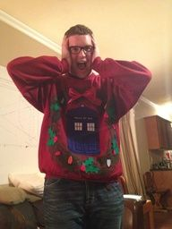 TARDIS Christmas sweatshirt!