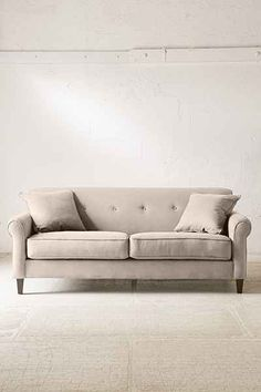 Spencer Microfiber Sofa - Urban Outfitters