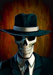 Skulduggery Pleasant - a great website which focuses on the book series rather than the author. Not that Derek Landy's going to let some skeleton steal all his glory!