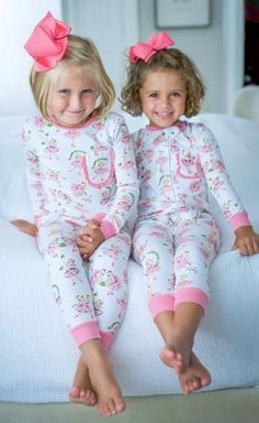 Christmas Ballet Girls Two Piece Pima Cotton Pajamas