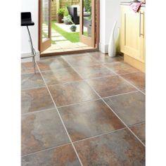 Cavan Slate Effect Porcelain Tile - Porcelain Floor Tiles - Floor Tiles -Tiles & Flooring - Wickes