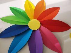 Papierblume basteln als Wanddeko für das Kinderzimmer