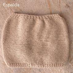 Cómo tricotar la espalda de un pelele de lana para bebé