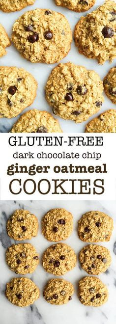 Flourless Dark Chocolate Chip Ginger Oatmeal Cookies for an easy dairy & gluten-free dessert. Low in sugar oatmeal cookies ready in less than 20 minutes! Plus they have marine collagen for extra nutritional boost.