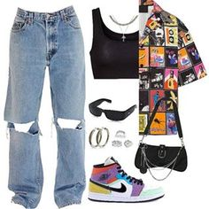 Teenage Outfits, Teen Fashion Outfits, Edgy Outfits, Retro Outfits, Look Fashion, Vintage Outfits, Summer Outfits, Teen Swag Outfits, Clueless Outfits