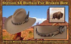 Stetson 4X Buffalo Fur Broken Bow Western Hat -Review off of: http://www.indianvillagemall.com/stetsonbuffalofurhats.html