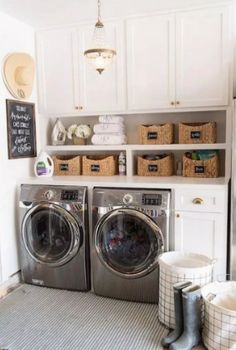 "Outstanding ""laundry room storage diy cabinets"" info is available on our web pages. Have a look and you wont be sorry you did. Farmhouse Laundry Room, Basement Laundry, Laundry Closet, Small Laundry Rooms, Laundry Room Organization, Laundry Room Design, Bathroom Closet, Laundry Decor, Laundry Drying"