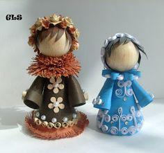Quilled dolls