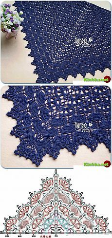 """Fancy shawl crochet """"Klubka.Net - All about crochet"""