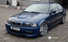 PRIOR-DESIGN Aerodynamic-Kit for BMW 3-Series E46 Coupe - PRIOR-DESIGN Exclusive Tuning Bmw Serie 3, Bmw 3 Series, Bmw E46, E46 M3, E46 Tuning, E46 Coupe, Bmw Autos, Bmw Love, Modern Gentleman