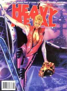 Heavy Metal September 1999 Cover by Claudio Aboy Heavy Metal Comic, Heavy Metal Art, Metal Magazine, Cool Magazine, Magazine Covers, Pop Art Drawing, Comic Drawing, Drawing Girls, Horror Comics