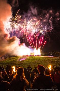 See the fireworks at the Hogmanay New Year's Eve Festival in Edinburgh, Scotland