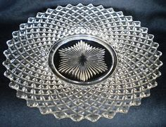 "Westmoreland Glass ""English Hobnail"" plate"