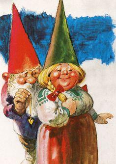 Rien Poortvliet Rockwell Kent, Norman Rockwell, Woodland Creatures, Magical Creatures, Fairy Land, Fairy Tales, David The Gnome, Baumgarten, Kobold