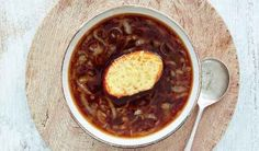 Master this classic French dish with Mary Berry's recipe for French Onion Soup served with delicious Mustard Cheese Croûtes from her BBC 1 series, Classic. Diet Soup Recipes, Healthy Dinner Recipes, Snack Recipes, Snacks, Classic French Dishes, Mary Berry, Onion Soup, French Onion, Food Videos