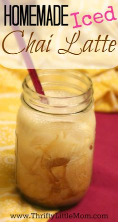 Homemade Iced Chai Latte. Made from same ingredients as your favorite coffee shop for a fraction of the cost!