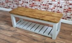 Rustic Hall Bench / Shoe Storage Bench made from Reclaimed Wood Outdoor Tool Storage, Garden Tool Storage, Diy Kitchen Storage, Ikea Storage, Storage Bench With Baskets, Bench Storage, Storage Ideas, Industrial Storage, Industrial Furniture
