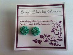 Cute Chrysanthemum Silver Plated Earrings. by SimplyByRebecca, £3.50