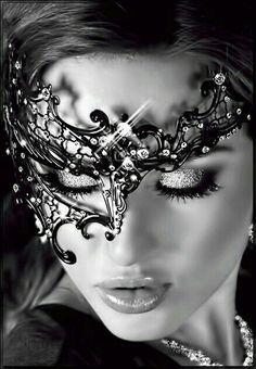 Glamorous Handmade Masquerade, Jewelries & Accessories by Glamorousgala Foto Glamour, Lace Mask, Mask Girl, Venetian Masks, Beautiful Mask, Masquerade Party, Masks Art, Woman Face, Black And White Photography