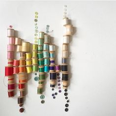 Pretty #crafttherainbow threads and buttons from @xoelle
