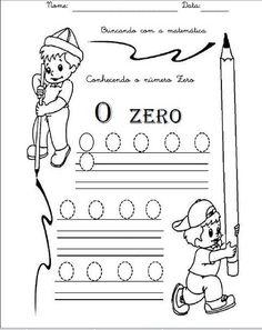 Numerais -Números de 0 a 10 para cobrir e colorir Número 0 - cobrir e colorir Número 1 - cobrir e colorir Número 2 - cobrir...