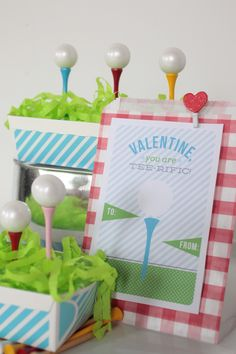 Golf-Themed Valentine Cards  The Party Wagon - Blog