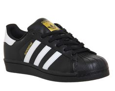 04286aced Adidas Superstar 1 Black White Foundation - His trainers