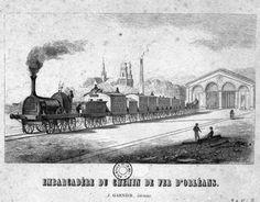 Orléans, embarcadère du chemin de fer. (Arch. dép. du Loiret, 5 Fi 532)
