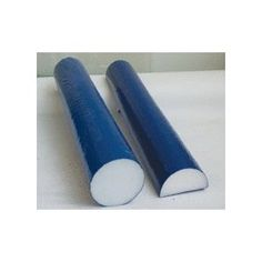"""Cando Blue Open Cell 6"""" x 36"""" Round Foam Roller. Perfect for positioning, balance, postural and muscle reeducation, spinal stabilization, body awareness and coordination, and ranging and strengthening activities. Round rollers offer progressive exercise sequences - user can move from an easier (smaller diameter) to a more difficult (larger diameter) roller. Half round roller is a great tool for ankle stretching and knee rehabilitation. Use half roll as rocker board by standing on flat side…"""