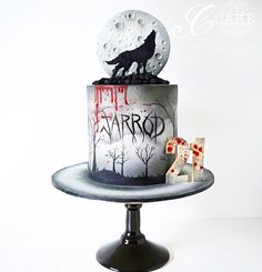 **NEW STOCKIST** Please welcome to the crew! So excited to have my paints in there. Big thank you to for created such an amazing cake using my paints! Amazing Wedding Cakes, Amazing Cakes, Fondant Cakes, Cupcake Cakes, Cupcakes, Wolf Cake, Horror Cake, Cake Land, Hand Painted Cakes