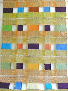 Susan Johnson: Avalanche Looms | House Blessing | window weave | woven on a barn loom | Avalanche, Wisconsin, U.S.A. | c. 2007