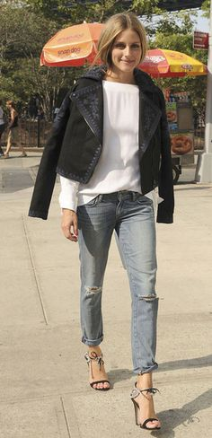 Olivia Palermo in Marchesa Voyage jacket