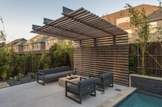 Small Backyard Design, Backyard Patio Designs, Pergola Designs, Backyard Landscaping, Modern Pergola, Modern Patio, Outdoor Pergola, Outdoor Decor, Pergola Plans