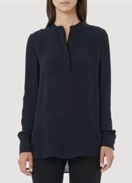 Vince - Tipped Contrast Blouse